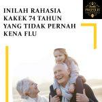 Rahasia kakek 74 tahun yang tidak pernah kena flu
